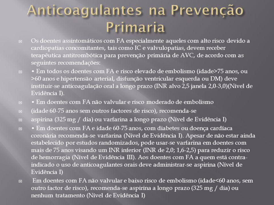 Anticoagulantes na Prevenção Primaria