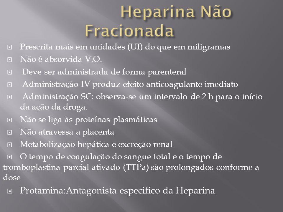 Heparina Não Fracionada