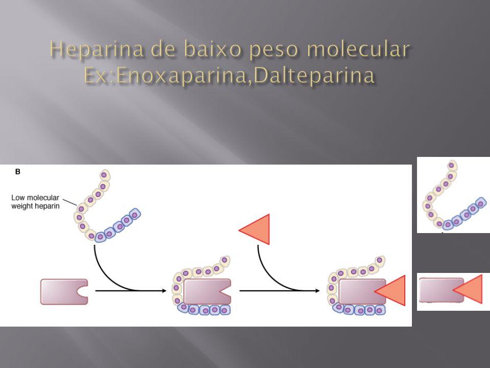 Heparina de baixo peso molecular Ex:Enoxaparina,Dalteparina