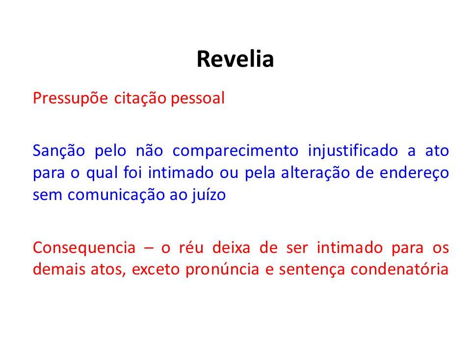 Revelia Pressupõe citação pessoal