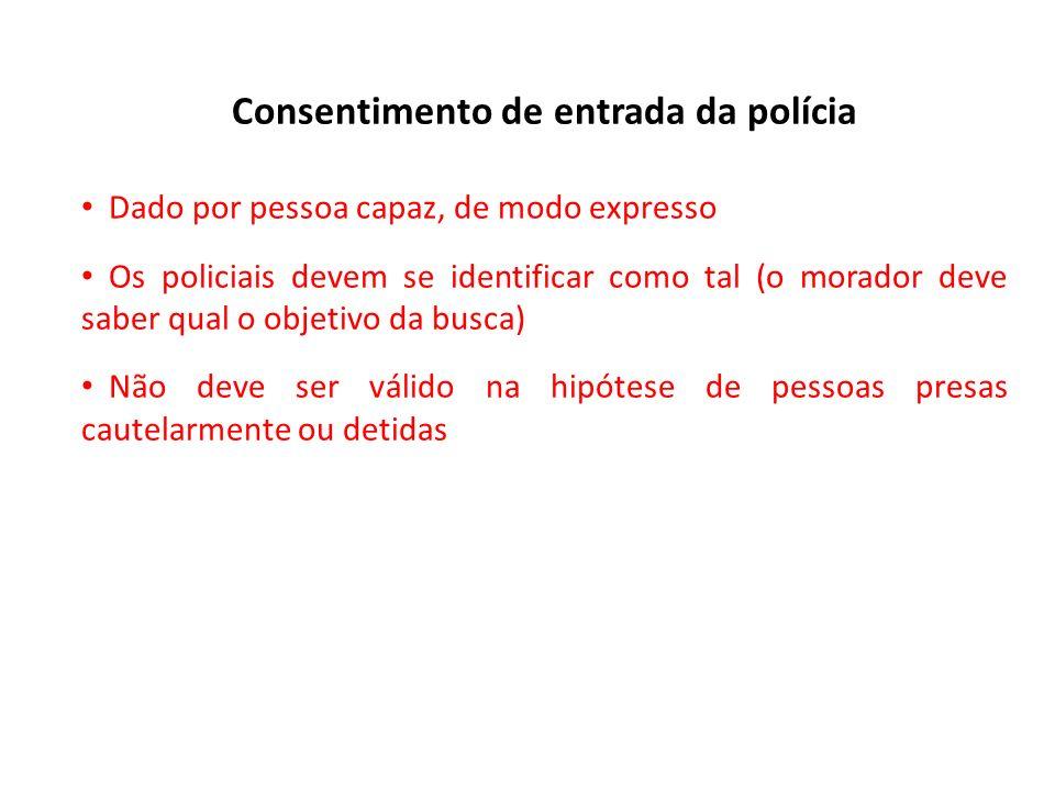 Consentimento de entrada da polícia