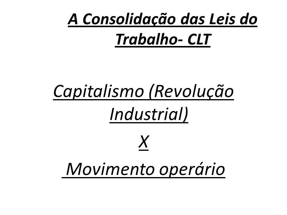 A Consolidação das Leis do Trabalho- CLT