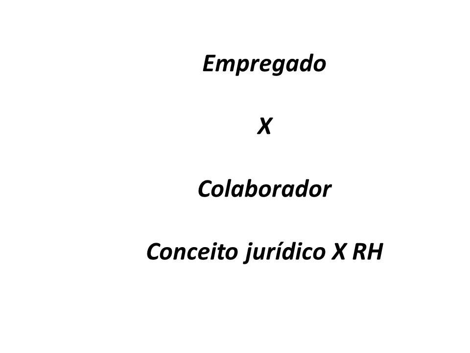 Empregado X Colaborador Conceito jurídico X RH