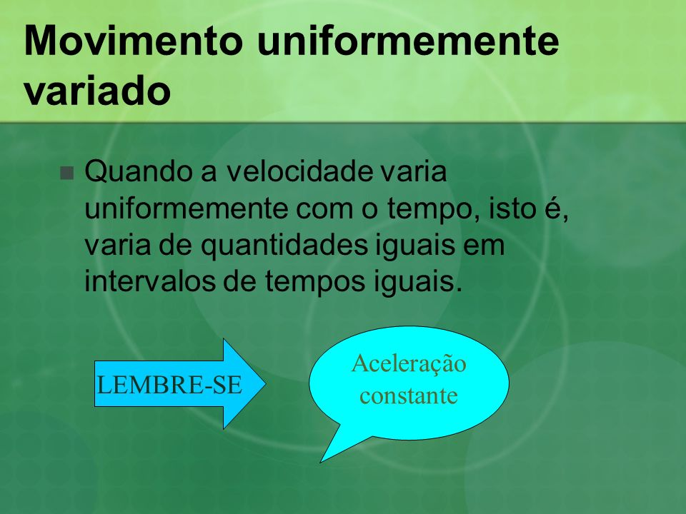 Movimento uniformemente variado