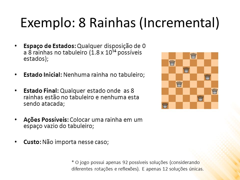 Exemplo: 8 Rainhas (Incremental)