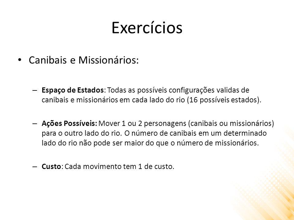 Exercícios Canibais e Missionários:
