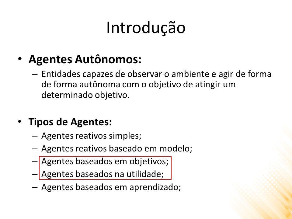 Introdução Agentes Autônomos: Tipos de Agentes: