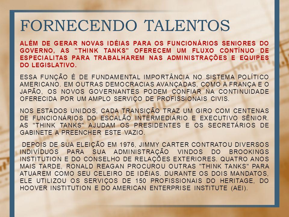 FORNECENDO TALENTOS