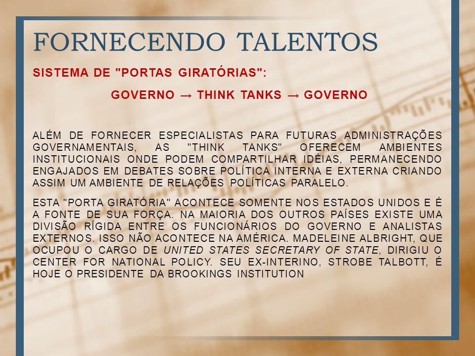 governo → think tanks → governo