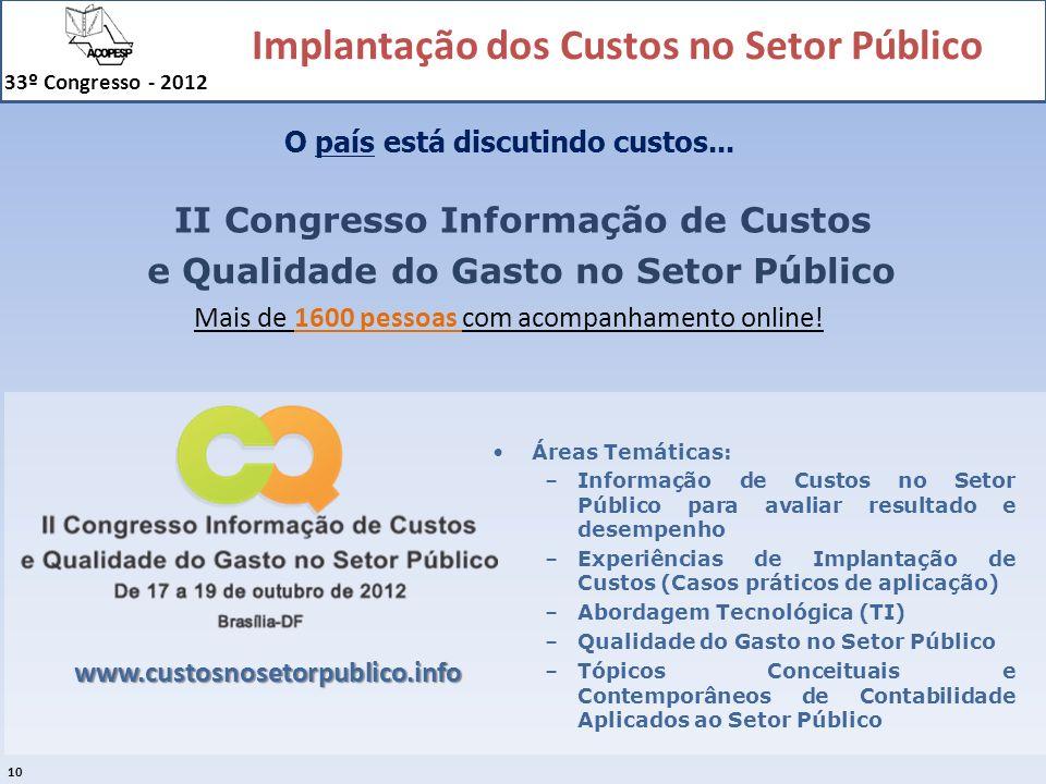 II Congresso Informação de Custos