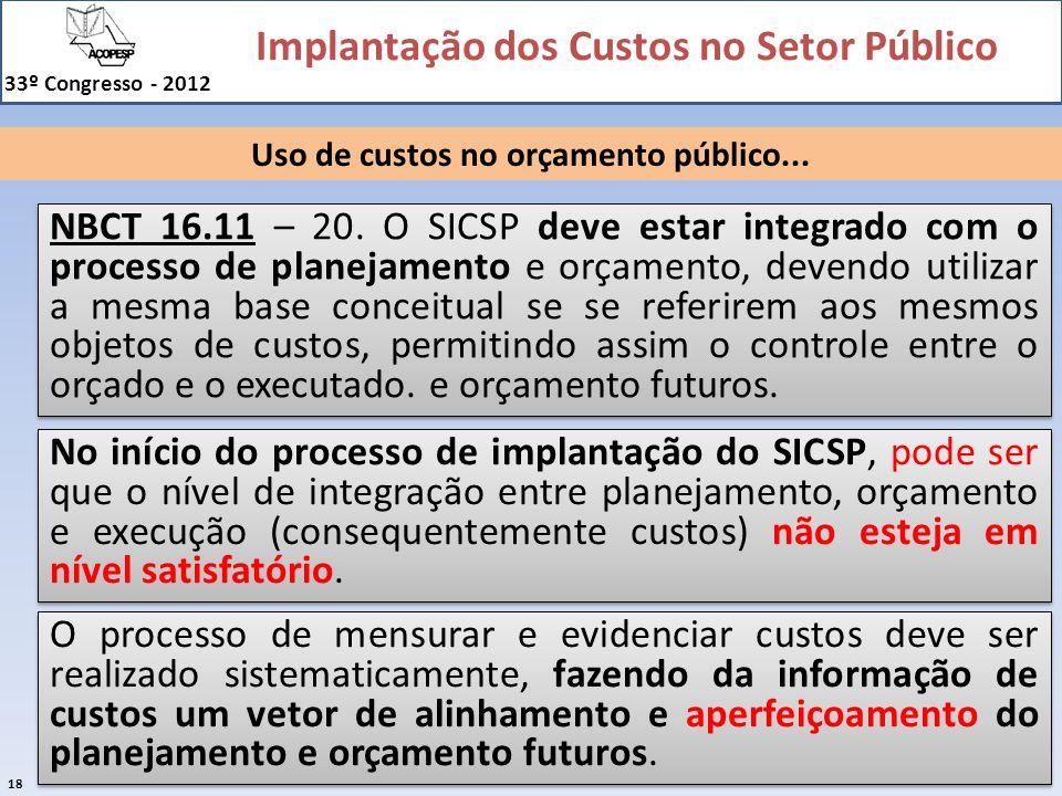 Uso de custos no orçamento público...