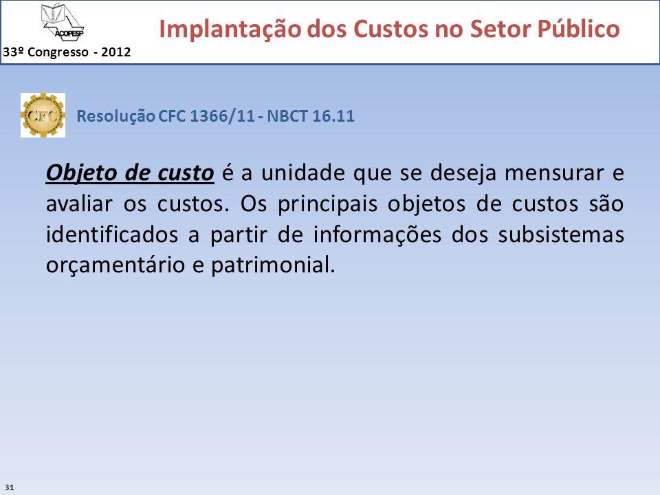 Resolução CFC 1366/11 - NBCT 16.11