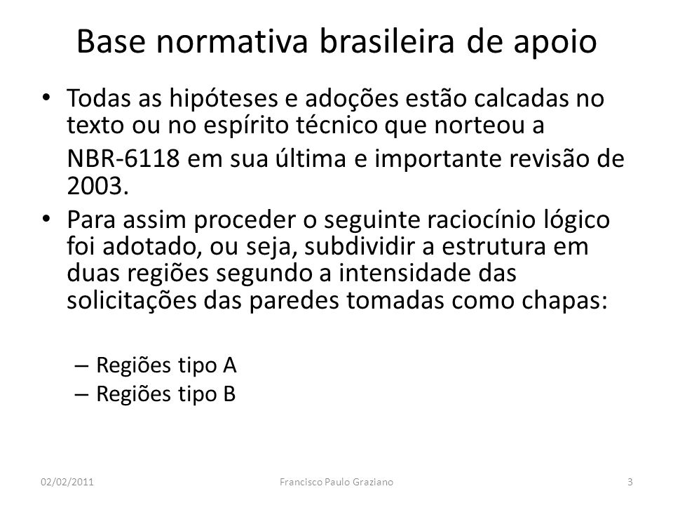 Base normativa brasileira de apoio