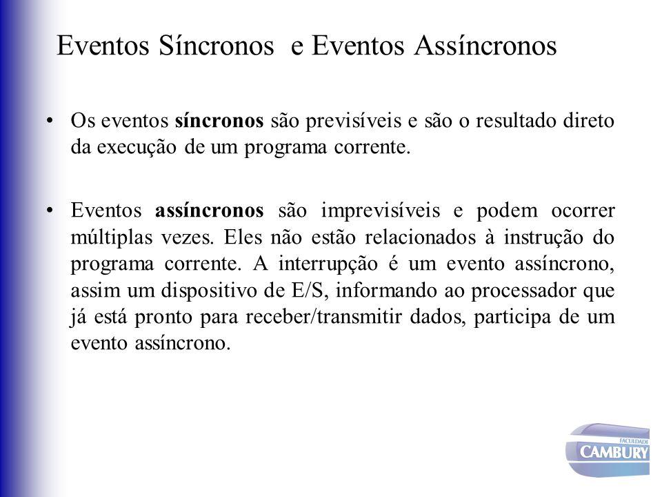Eventos Síncronos e Eventos Assíncronos