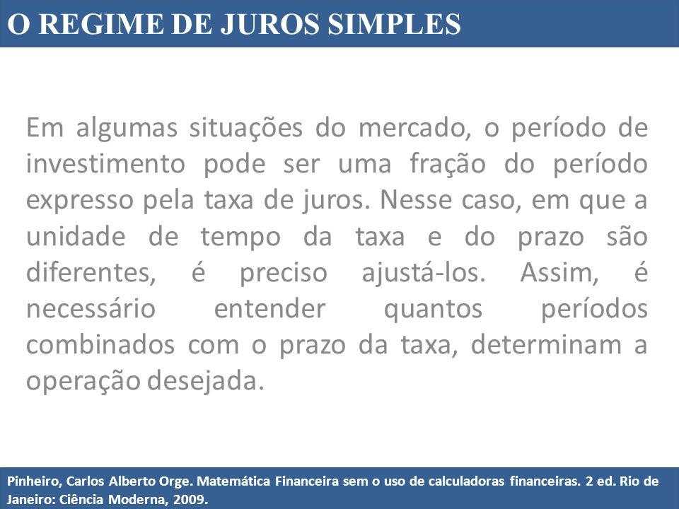 O REGIME DE JUROS SIMPLES