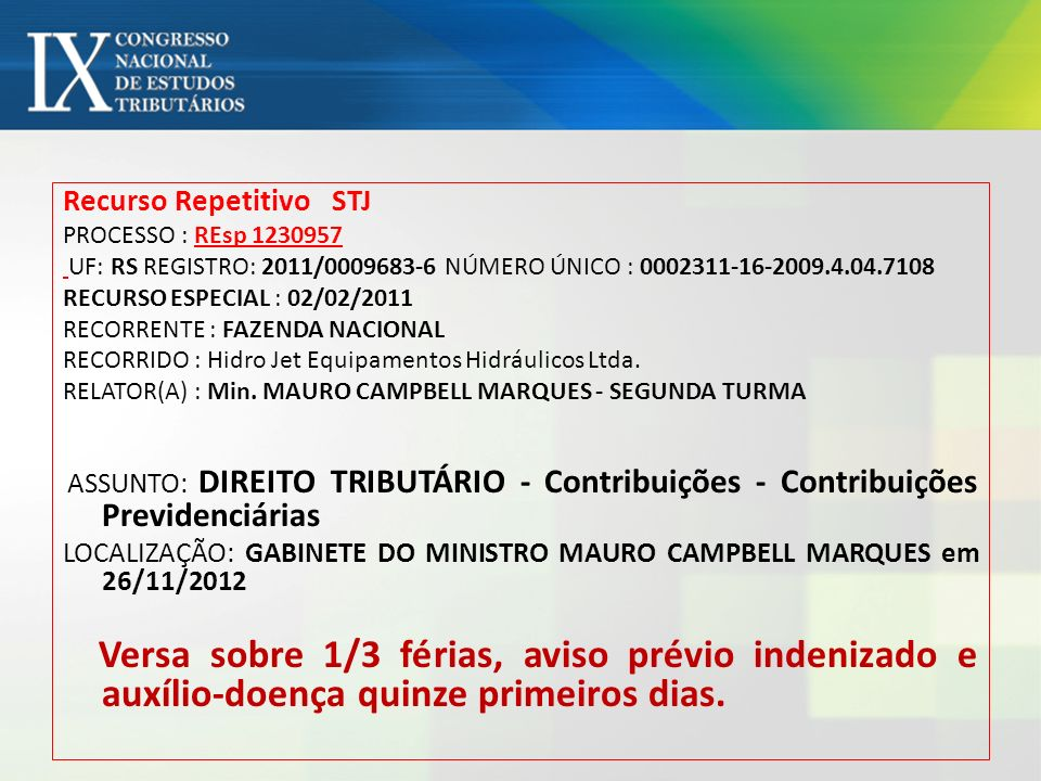 Recurso Repetitivo STJ
