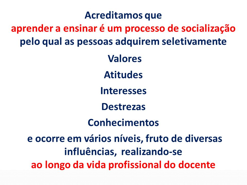 Valores Acreditamos que