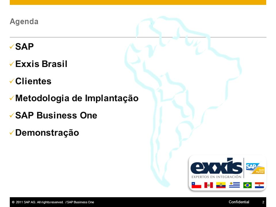 Metodologia de Implantação SAP Business One Demonstração