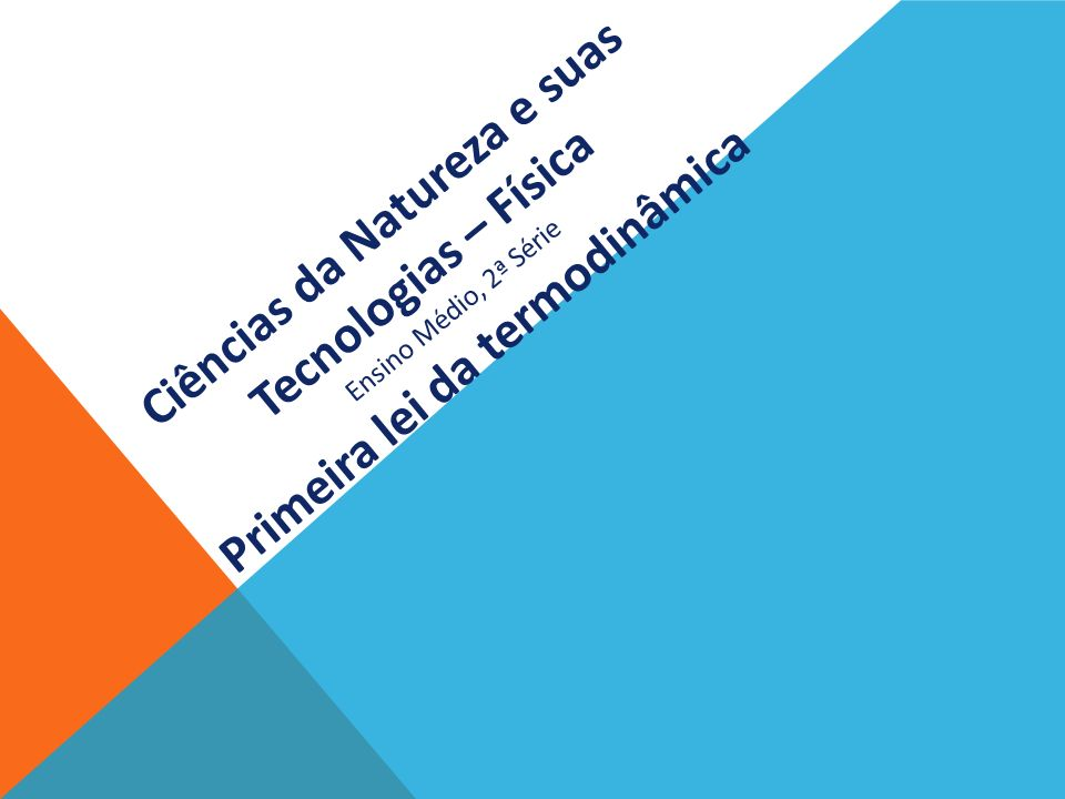 Ciências da Natureza e suas Tecnologias – Física