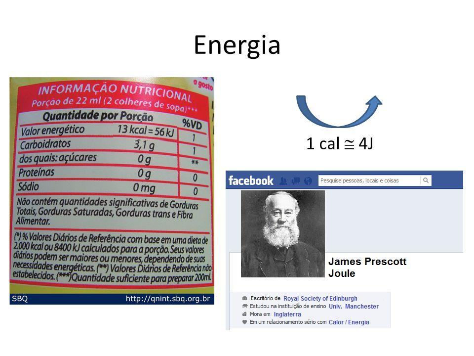 Energia 1 cal  4J