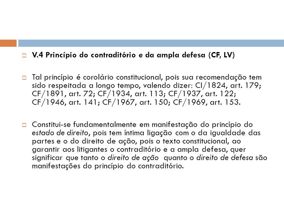 V.4 Princípio do contraditório e da ampla defesa (CF, LV)