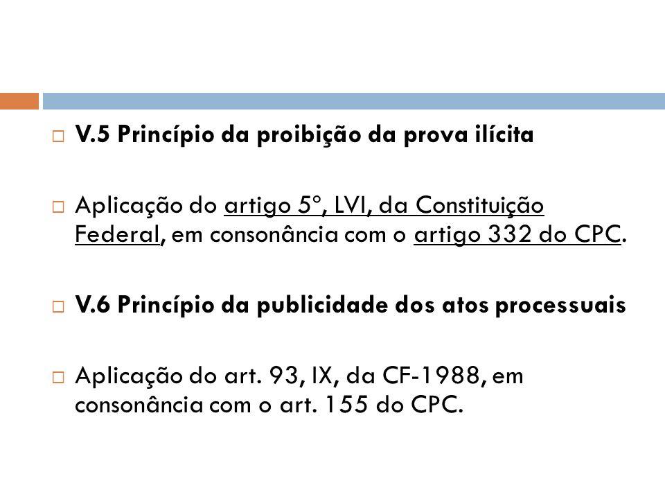 V.5 Princípio da proibição da prova ilícita