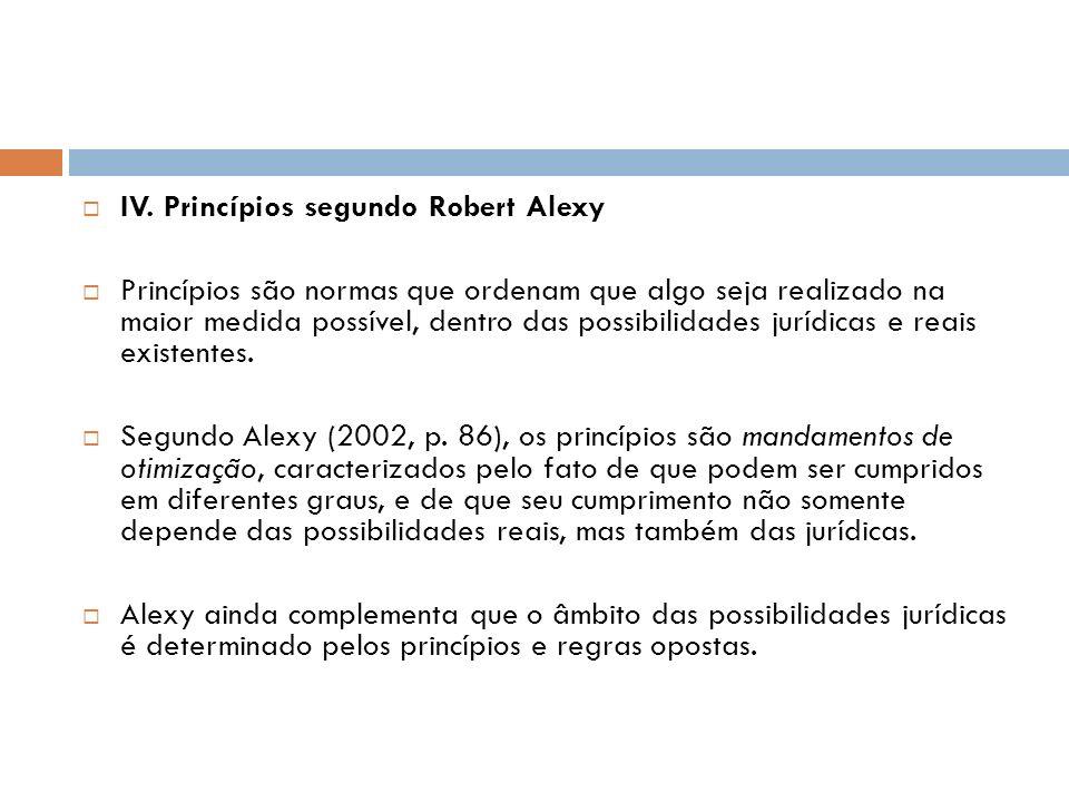 IV. Princípios segundo Robert Alexy