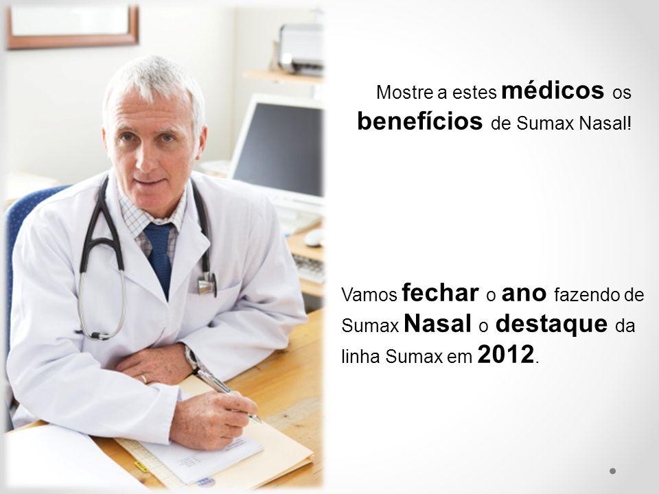 Mostre a estes médicos os benefícios de Sumax Nasal!
