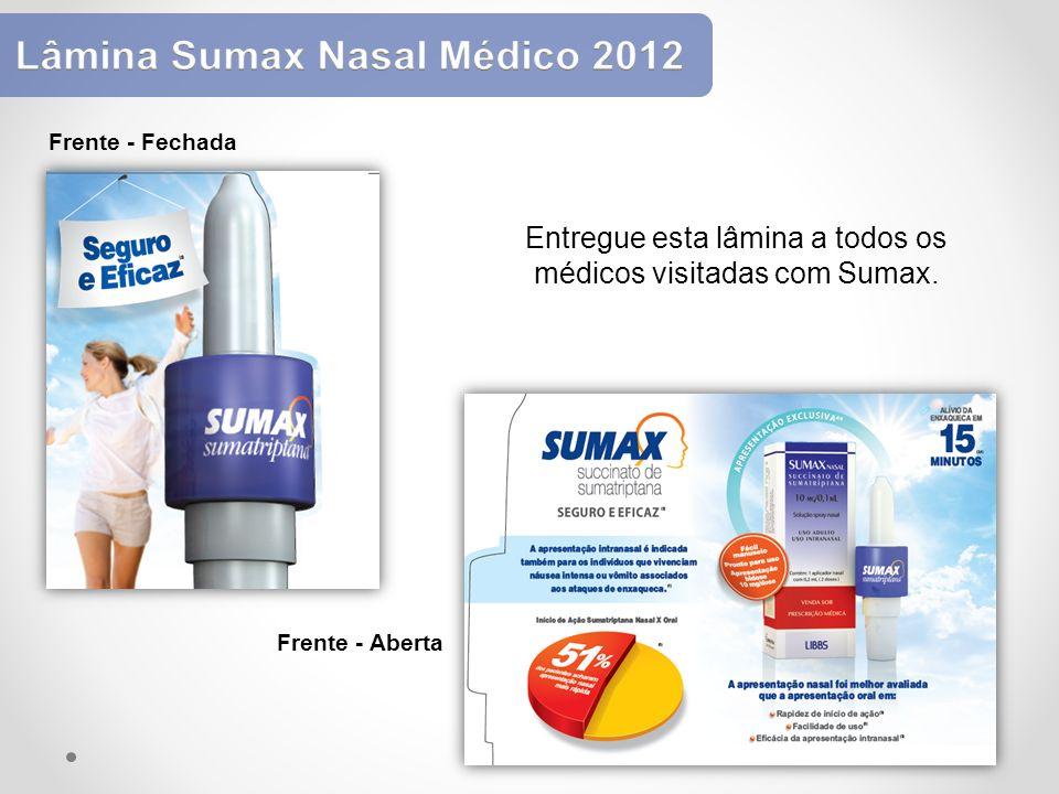Entregue esta lâmina a todos os médicos visitadas com Sumax.