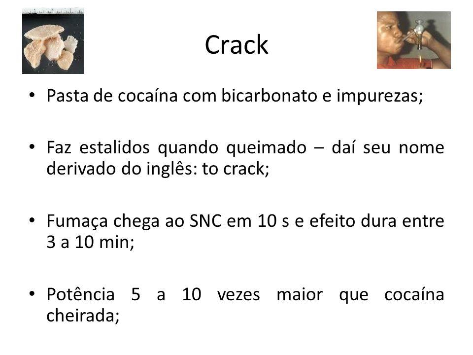 Crack Pasta de cocaína com bicarbonato e impurezas;