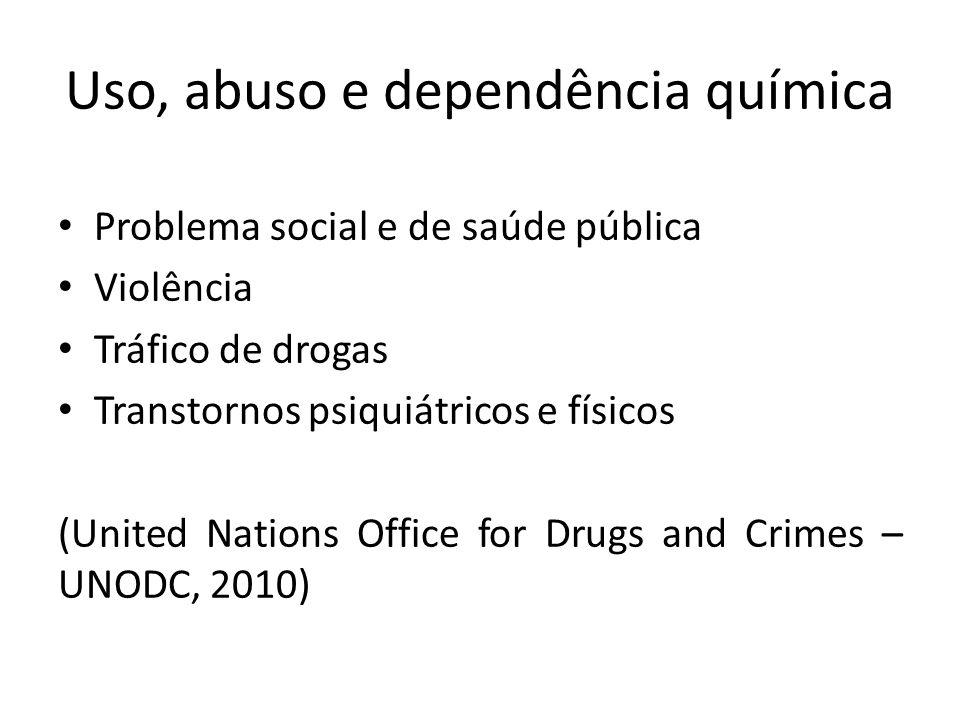 Uso, abuso e dependência química