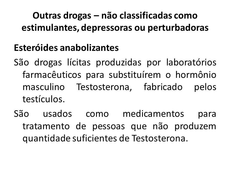 Outras drogas – não classificadas como estimulantes, depressoras ou perturbadoras