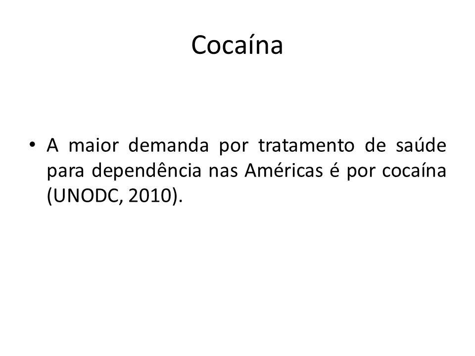 Cocaína A maior demanda por tratamento de saúde para dependência nas Américas é por cocaína (UNODC, 2010).