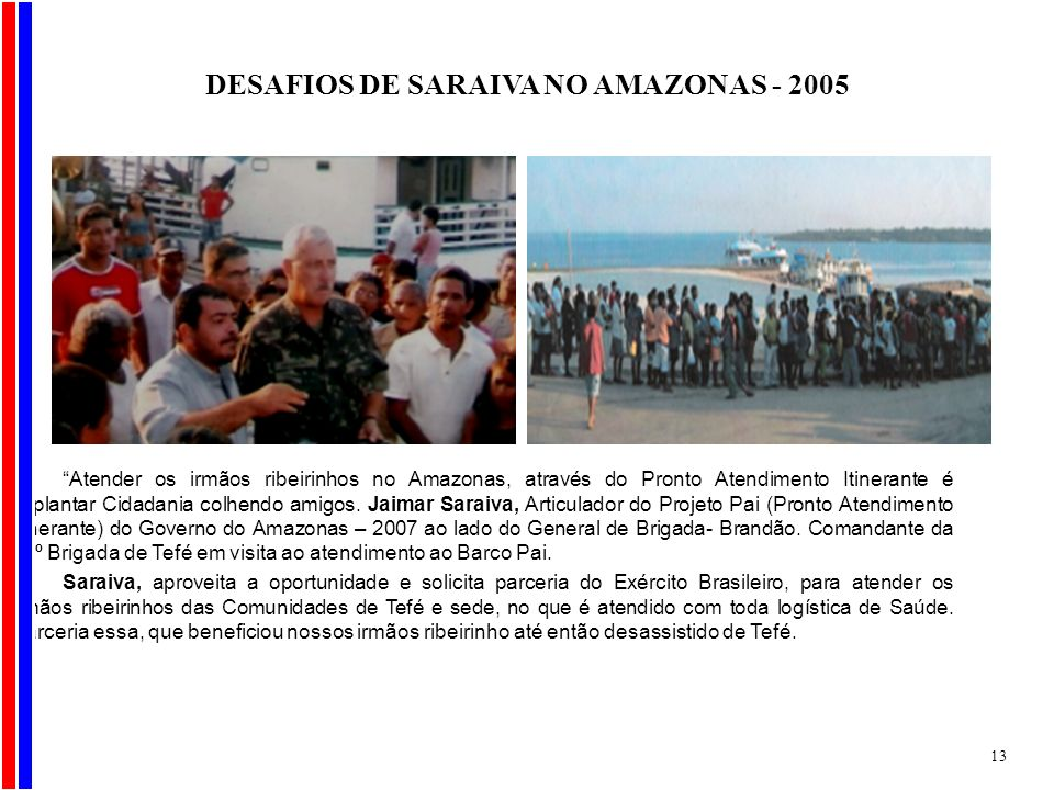 DESAFIOS DE SARAIVA NO AMAZONAS - 2005