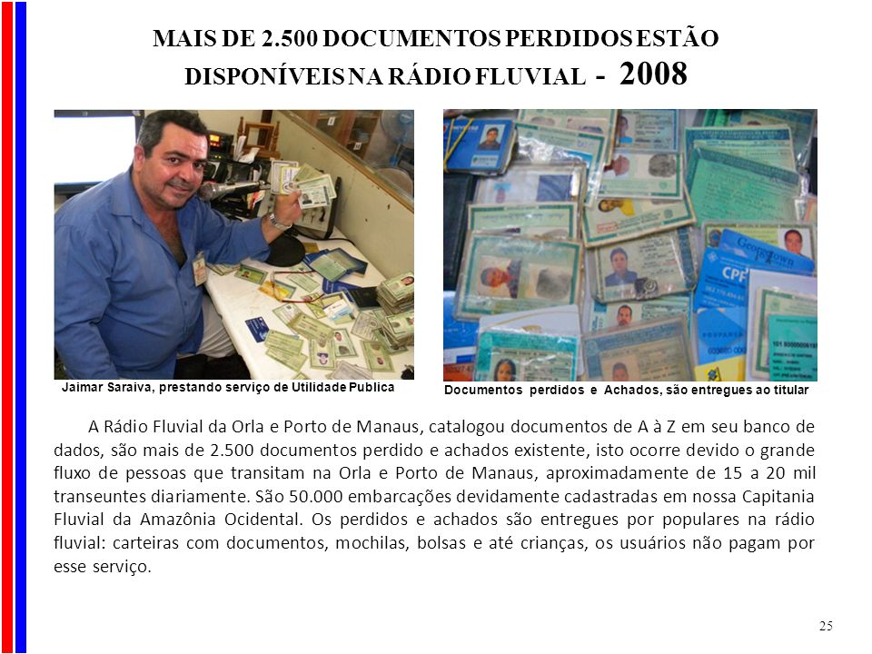 MAIS DE 2.500 DOCUMENTOS PERDIDOS ESTÃO