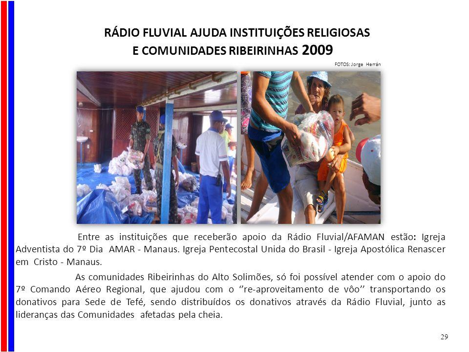 RÁDIO FLUVIAL AJUDA INSTITUIÇÕES RELIGIOSAS
