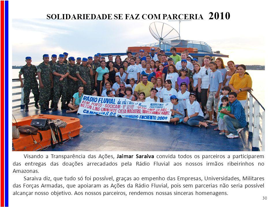 SOLIDARIEDADE SE FAZ COM PARCERIA 2010