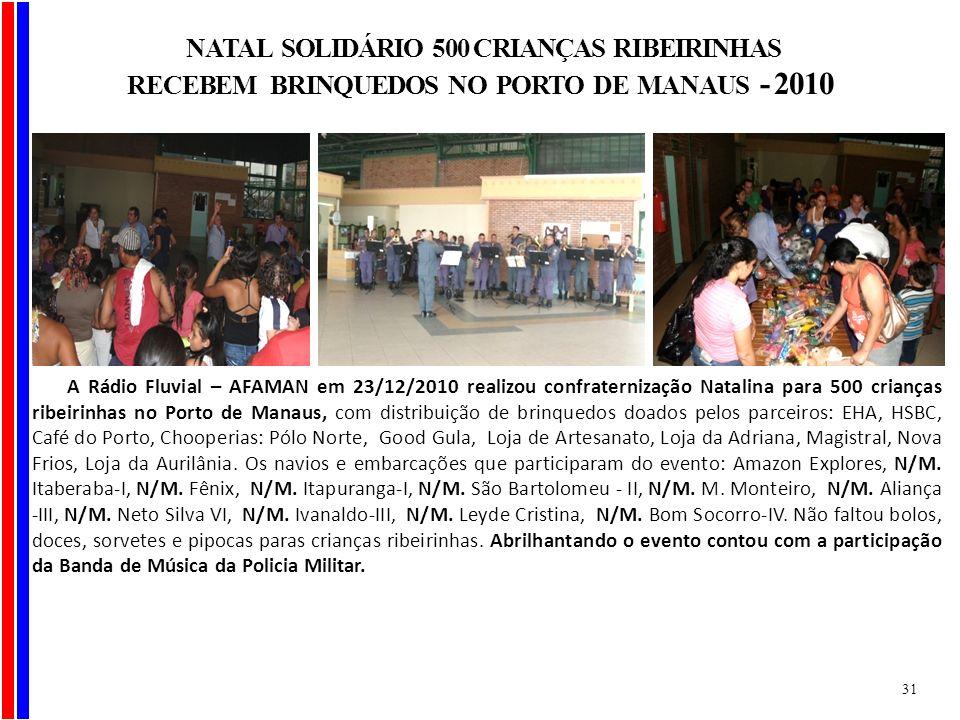 NATAL SOLIDÁRIO 500 CRIANÇAS RIBEIRINHAS