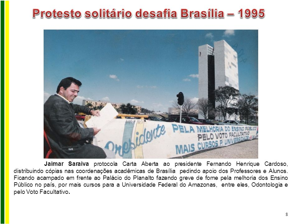 Protesto solitário desafia Brasília – 1995