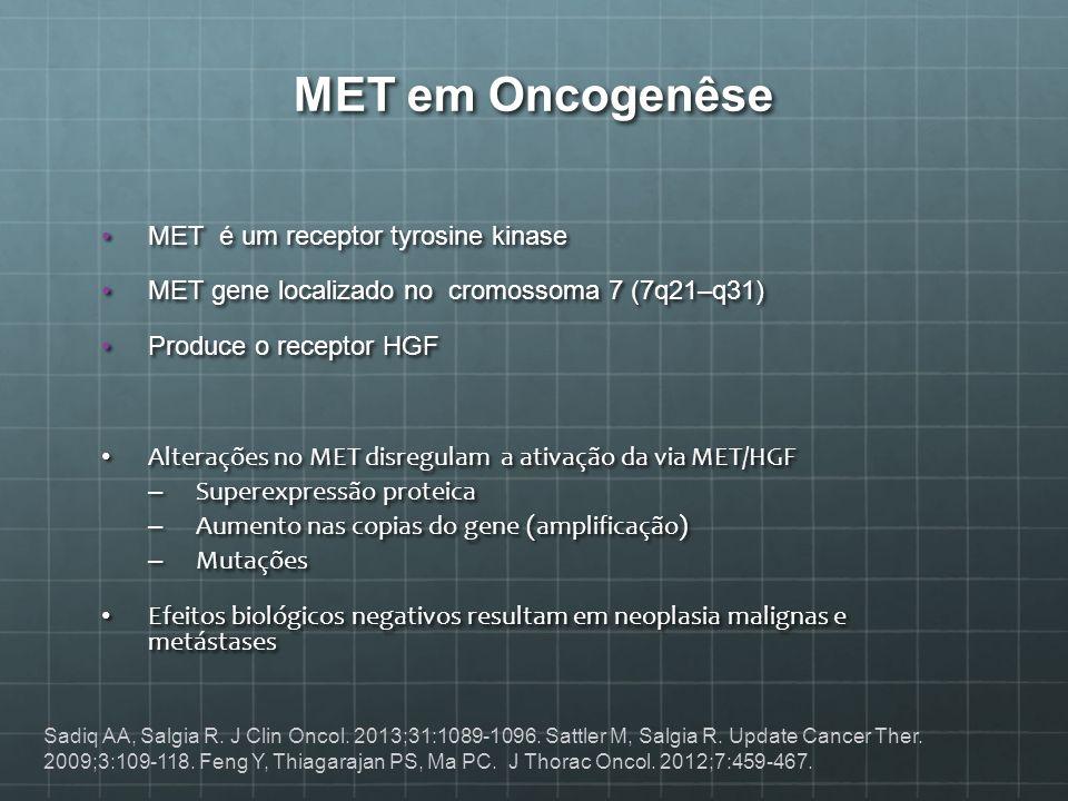 MET em Oncogenêse MET é um receptor tyrosine kinase