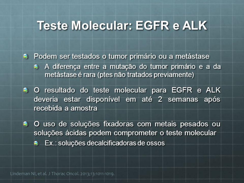 Teste Molecular: EGFR e ALK
