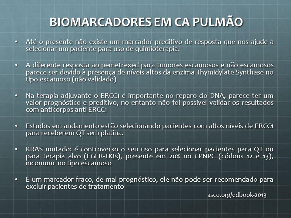 BIOMARCADORES EM CA PULMÃO
