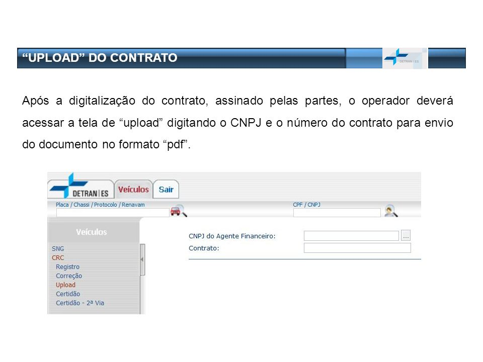 UPLOAD DO CONTRATO