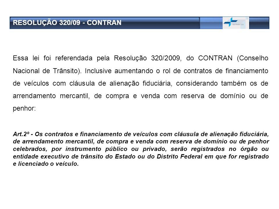 RESOLUÇÃO 320/09 - CONTRAN