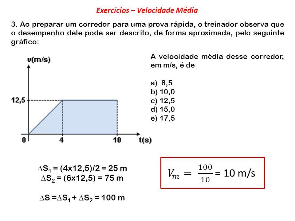 Exercícios – Velocidade Média