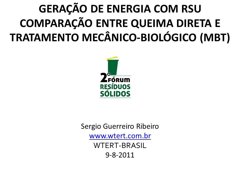 GERAÇÃO DE ENERGIA COM RSU