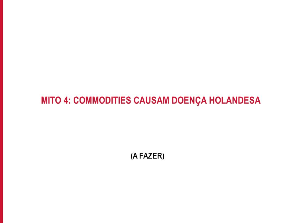 MITO 4: COMMODITIES CAUSAM DOENÇA HOLANDESA