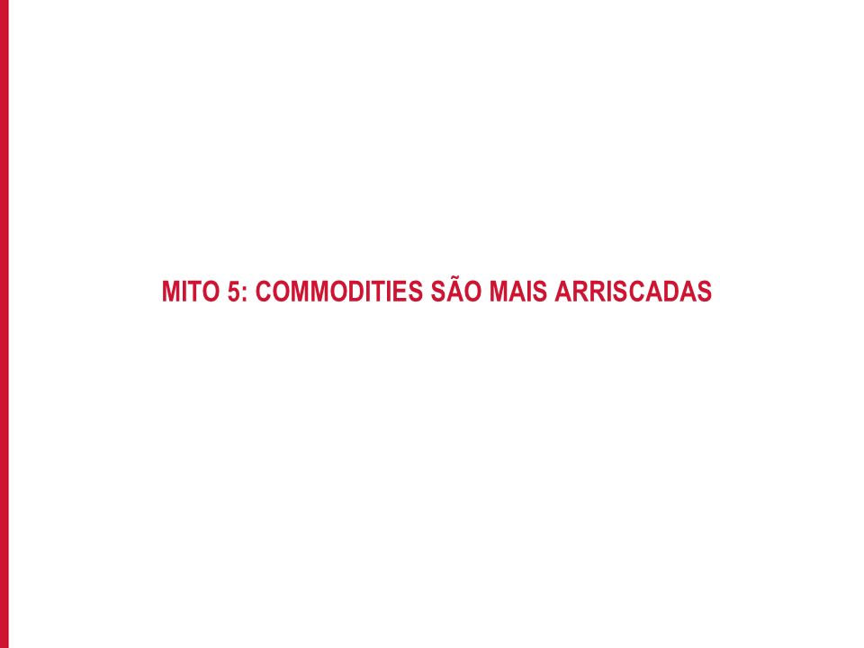 MITO 5: COMMODITIES SÃO MAIS ARRISCADAS