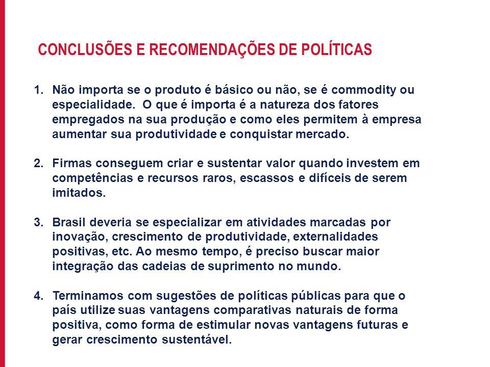 CONCLUSÕES E RECOMENDAÇÕES DE POLÍTICAS