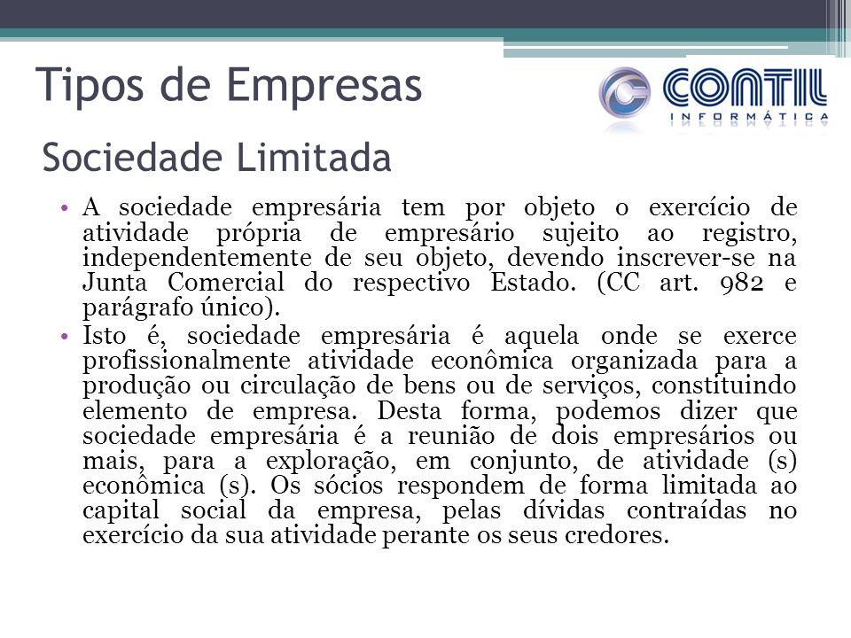 Tipos de Empresas Sociedade Limitada